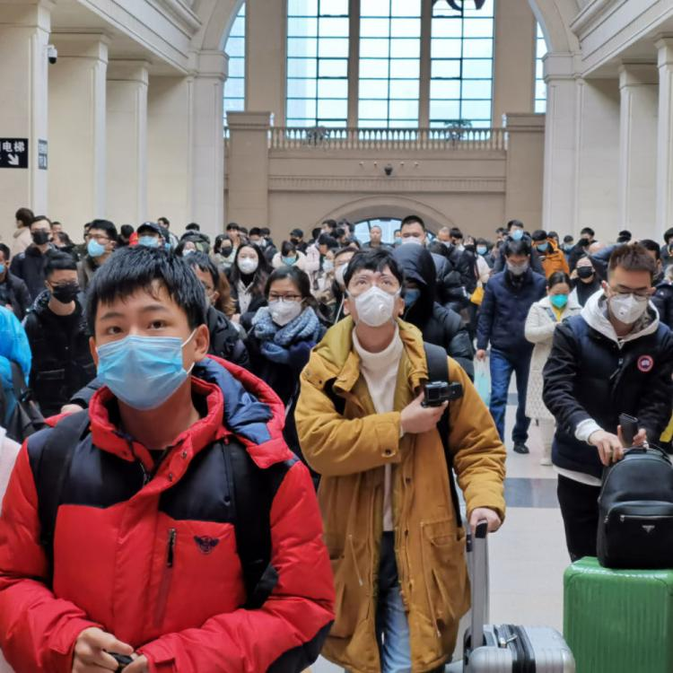 Wuhan trains and streets are filled by masked crowd after the lockdown ends