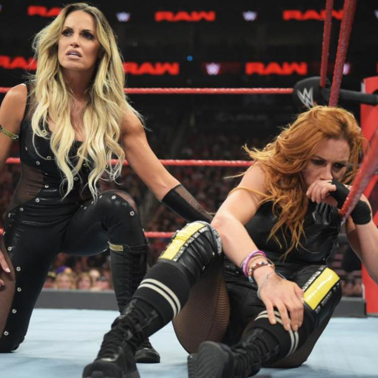 Natalya had the last laugh as she was paired with Trish Stratus in a tag-team match against Becky Lynch and Charlotte Flair.