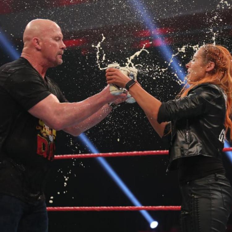 Becky Lynch helped Stone Cold Steve Austin celebrate 3:16 during WWE RAW.