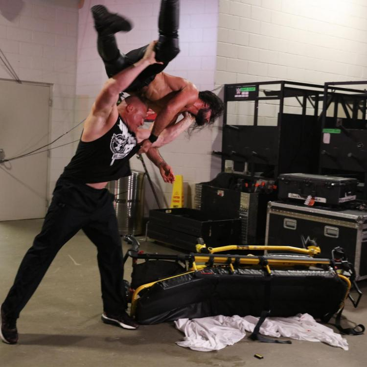 Seth Rollins vs. Dolph Ziggler was interrupted by Brock Lesnar during Monday Night Raw.