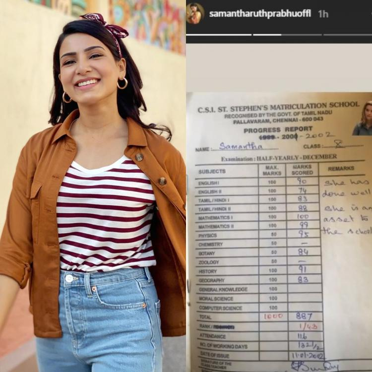 Samantha Akkineni shares her class X report card in a throwback PHOTO; fans envy her high marks
