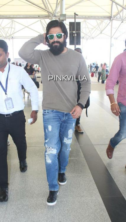 Airport Diaries: KGF star Yash clicked in his cool look as he heads back to Bengaluru