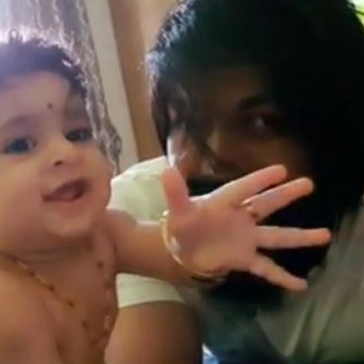 KGF actor Yash's daughter Ayra says 'Hi' to the world in the most adorable way; Watch video