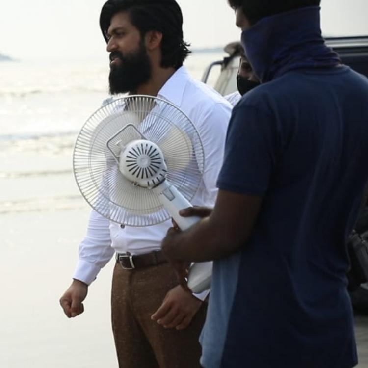 Yash BTS photo from KGF Chapter 2