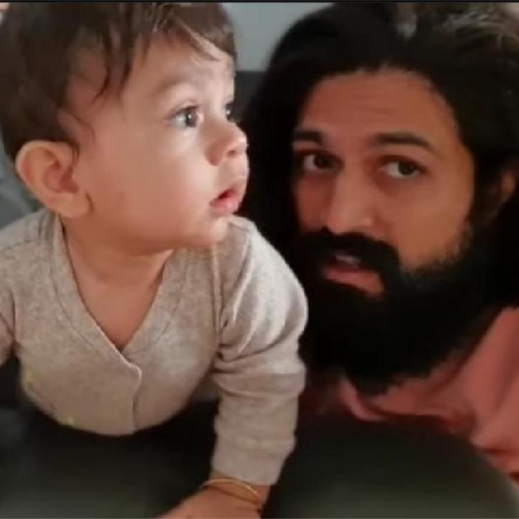 Radhika Pandit shares VIDEOS of her son Yatharv trying to mimic Yash as he teaches him nursery rhymes; WATCH
