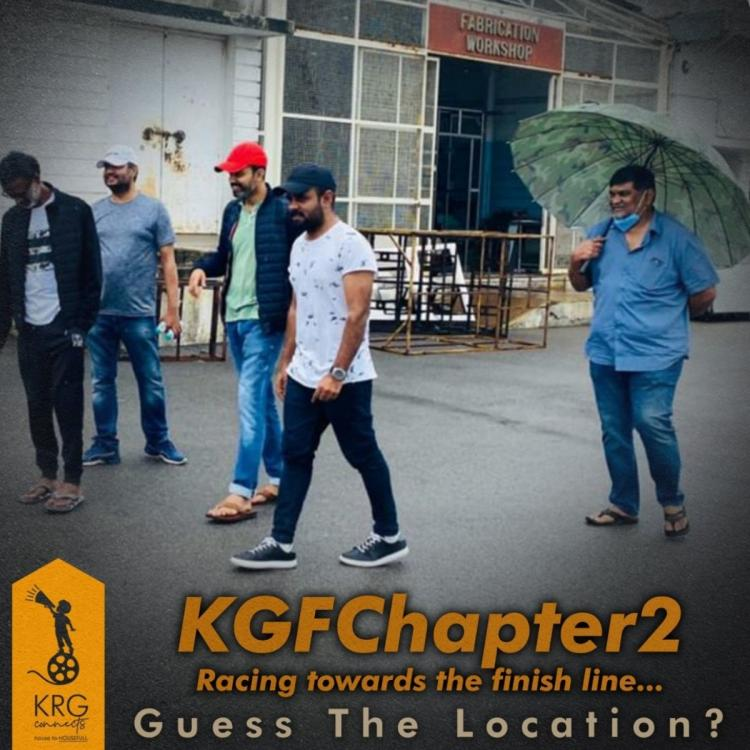 Yash's KGK Chapter 2: Director shares photo from location as the makers resume with the shooting
