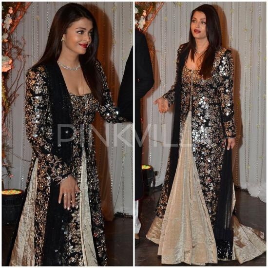 Celebrity Style,manish malhotra,Aishwarya rai bachchan,Bipasha Basu and Karan Singh Grover Wedding Reception,Monkey Wedding