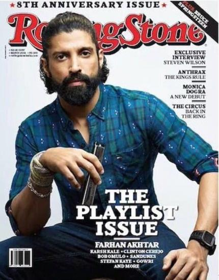 Magazine Covers,farhan akhtar,rock on,Rock On 2,Rolling Stones