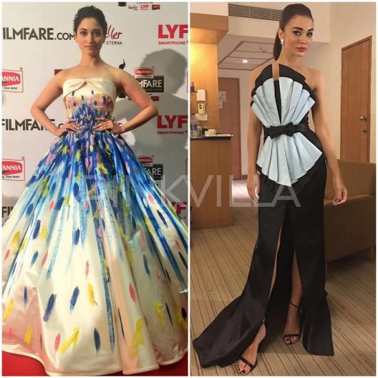 Celebrity Style,anisha jain,Tamannaah,Jean Louis Sabaji,Filmfare Awards South 2016