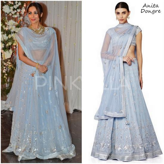 Celebrity Style,anita dongre,Malaika Arora Khan,Maneka Harisinghani,Bipasha Basu and Karan Singh Grover Wedding Reception,Monkey Wedding
