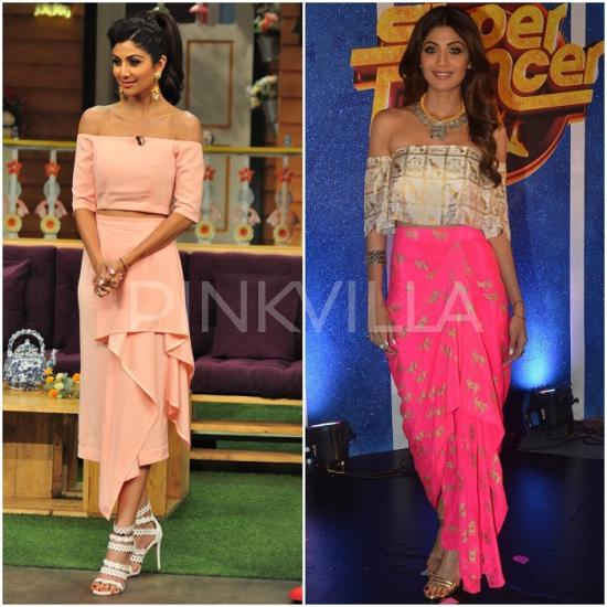 Celebrity Style,shilpa shetty,masaba,amrapali,aquamarine,Outhouse,Lola by Suman B,Sanjana  Batra,House of Masaba