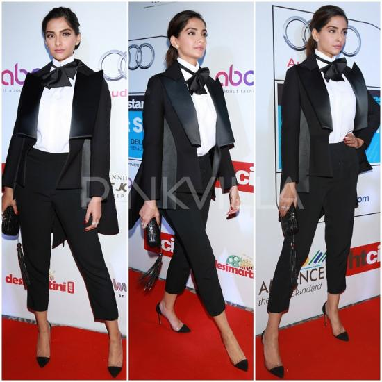 Celebrity Style,sonam kapoor,rhea kapoor,HT Most Stylish Awards 2016,Dice Kayek Couture