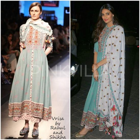 Celebrity Style,ami patel,amrapali,Vrisa by Rahul and Shikha,Athiya Shetty