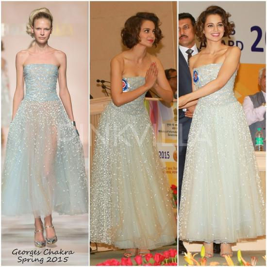 Celebrity Style,KANGANA RANAUT,ami patel,Georges Chakra,National Awards 2016