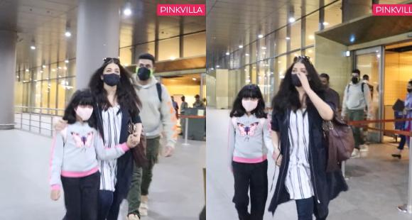 Aishwarya Rai Bachchan holds Aaradhya's hand at airport; Netizens ask 'What age will you let go of her hand?' - PINKVILLA