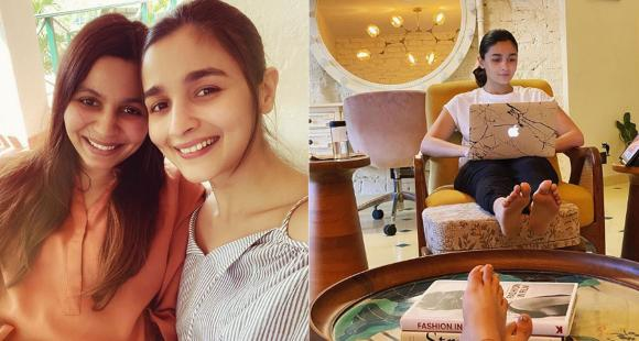 Shaheen Bhatt shares a candid picture of Alia Bhatt giving glimpse of her 'writer's room' & it's BEAUTIFUL