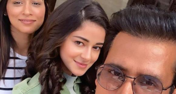 Ananya Panday looks undeniably pretty in this rare BTS PHOTO from the sets of Pati, Patni Aur Woh thumbnail