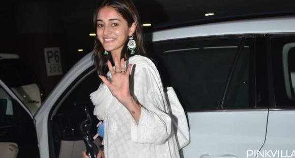 PHOTOS: Ananya Panday looks undeniably pretty in breezy white salwar kameez as she returns to the bay