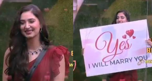 Bigg Boss 14 PROMO: Disha Parmar enters BB house to surprise Rahul on V Day; Confesses her love for him - PINKVILLA