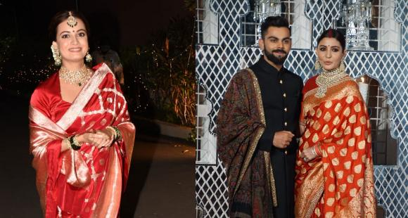 New bride Dia Mirza takes inspiration from Anushka Sharma's reception look for her wedding day & we are in awe - PINKVILLA