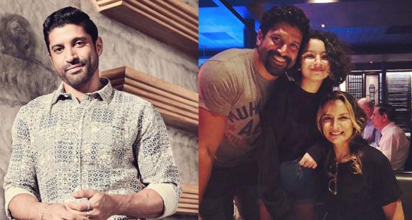 Farhan Akhtar reunites with ex wife Adhuna Bhabani for daughter Akira's birthday; Strikes perfect family pose