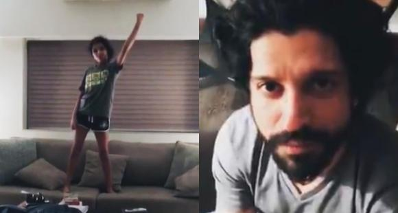Farhan Akhtar shares a hilarious throwback video with his daughter Akira; Shibani Dandekar calls it 'EPIC'
