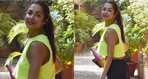 Malaika Arora's workout attire can beat any millennial's wardrobe as she gets papped near her yoga studio