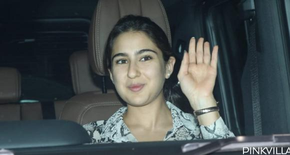PHOTOS: Sara Ali Khan is all smiles as she waves at the paparazzis on her way to Varun Dhawan's party - PINKVILLA
