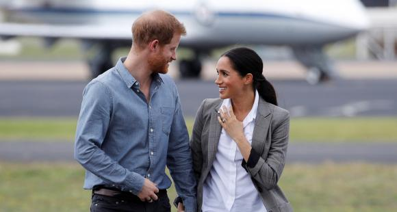 Meghan Markle and Prince Harry snapped together for the first time in Canada as they return from US