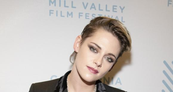 Kristen Stewart again wears her blazer with only a bra as she attends a film festival; See Pics