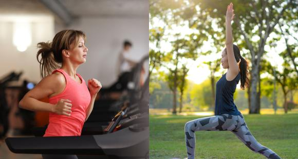 Gym Vs Yoga: Check out difference and benefits of gymming and doing yoga poses