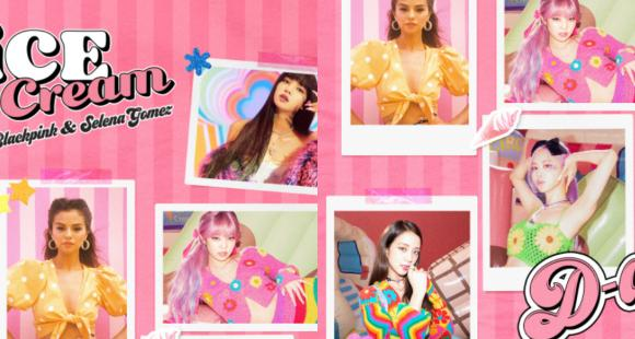 Ice Cream D Day Poster Selena Gomez Blackpink Members Jennie Lisa Jisoo And Rose Assemble In Final Poster Pinkvilla