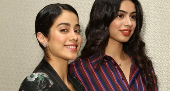 Janhvi Kapoor and Khushi Kapoor paint a pretty picture; Fans call them mirror image of Sridevi