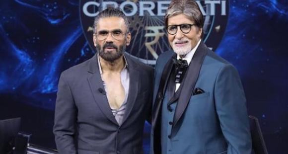 PHOTO: Suniel Shetty is 'wonderstruck' after meeting Amitabh Bachchan on KBC 13, pens a sweet note for legend