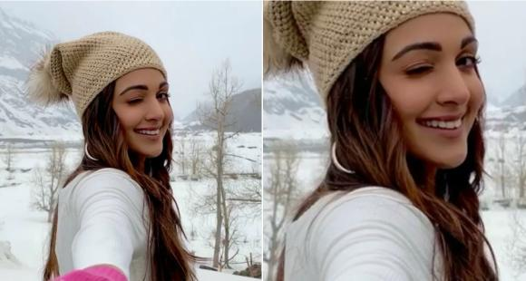 Kiara Advani looks radiant as she winks & gives us a glimpse of her 'snow glow' from winter wonderland; WATCH