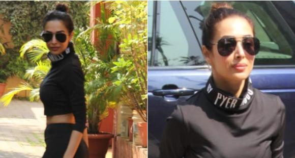 Malaika Arora raises the temperature in her recent all black gym wear; Check it out