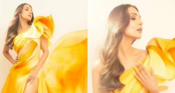 Malaika Arora looks like a summer dream in a yellow gown by Georges Chakra; Yay or Nay?