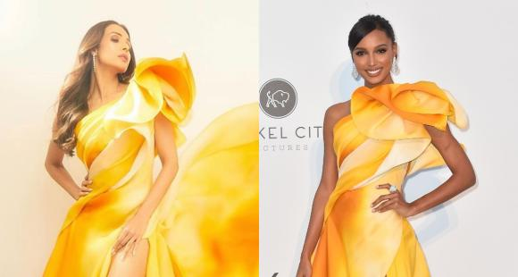 Fashion Faceoff: Malaika Arora or Victoria's Secret Angel Jasmine Tookes: Who wore Georges Chakra gown better?
