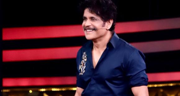 Nagarjuna Akkineni looks stylish in an all-blue Manish Malhotra label for Bigg Boss Telugu 4