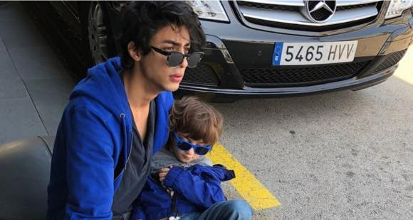 PHOTOS: Shah Rukh Khan and Gauri's elder son Aryan Khan is the BEST big brother to AbRam; Check it out