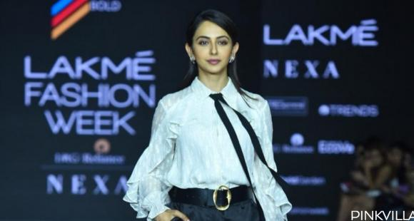 PHOTOS: Rakul Preet Singh is giving out major boss lady vibes in a monochrome outfit at the Lakme Fashion Week