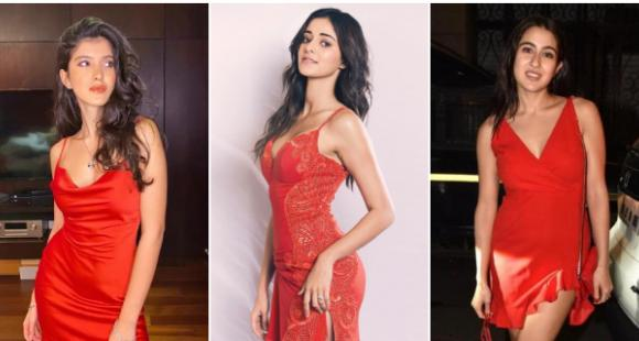 Shanaya Kapoor to Sara Ali Khan: 5 Times celebs painted the town red in date night ready bodycon dresses