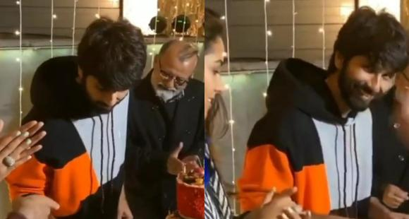 WATCH: Shahid Kapoor's REACTION to 'Jersey 400 crore' while cutting his birthday cake will make you smile