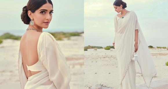 Sonam Kapoor takes us back to the old times in a Manish Malhotra saree and vintage glam; Yay or Nay?