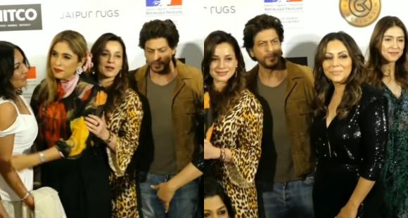 WATCH: Shah Rukh Khan proves he is a ladies man as he attends wife Gauri Khan's event