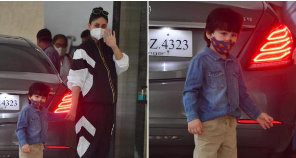 Kareena Kapoor Khan makes a statement in a tracksuit but we have all eyes on Taimur Ali Khan's stylish look - PINKVILLA