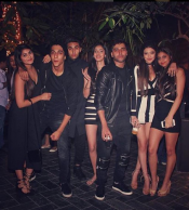 Photos,Suhana Khan,new year 2017,shanaya kapoor,ahaan panday,star kids