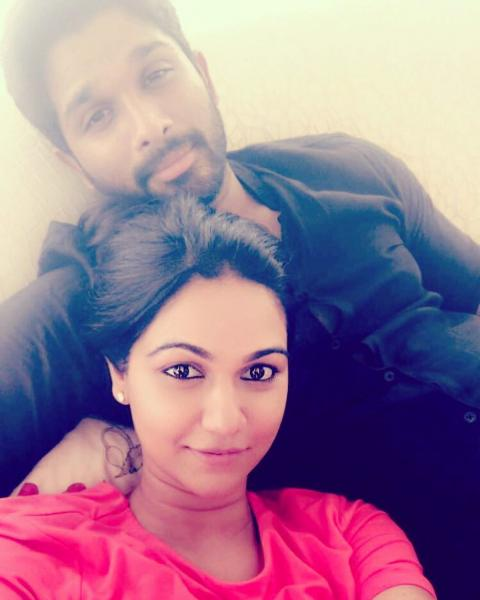 Allu Arjun and his wife Sneha's romantic pictures are a