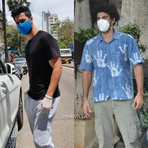 Vicky Kaushal Gets Papped With New Hairstyle Post Salon Visit Aditya Roy Kapur Poses Outside Dubbing Studio