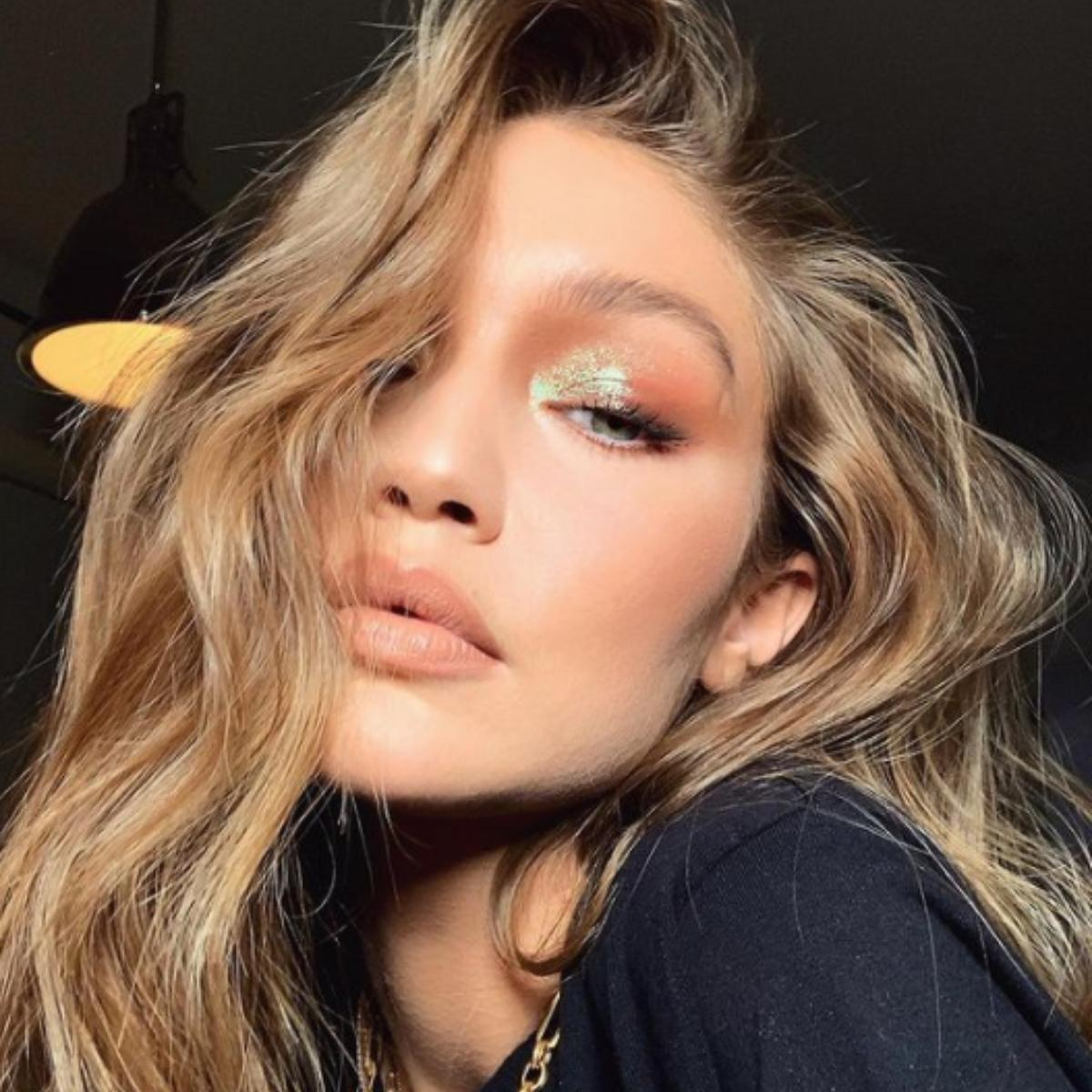Gigi Hadid's pictures wearing nude lip colours